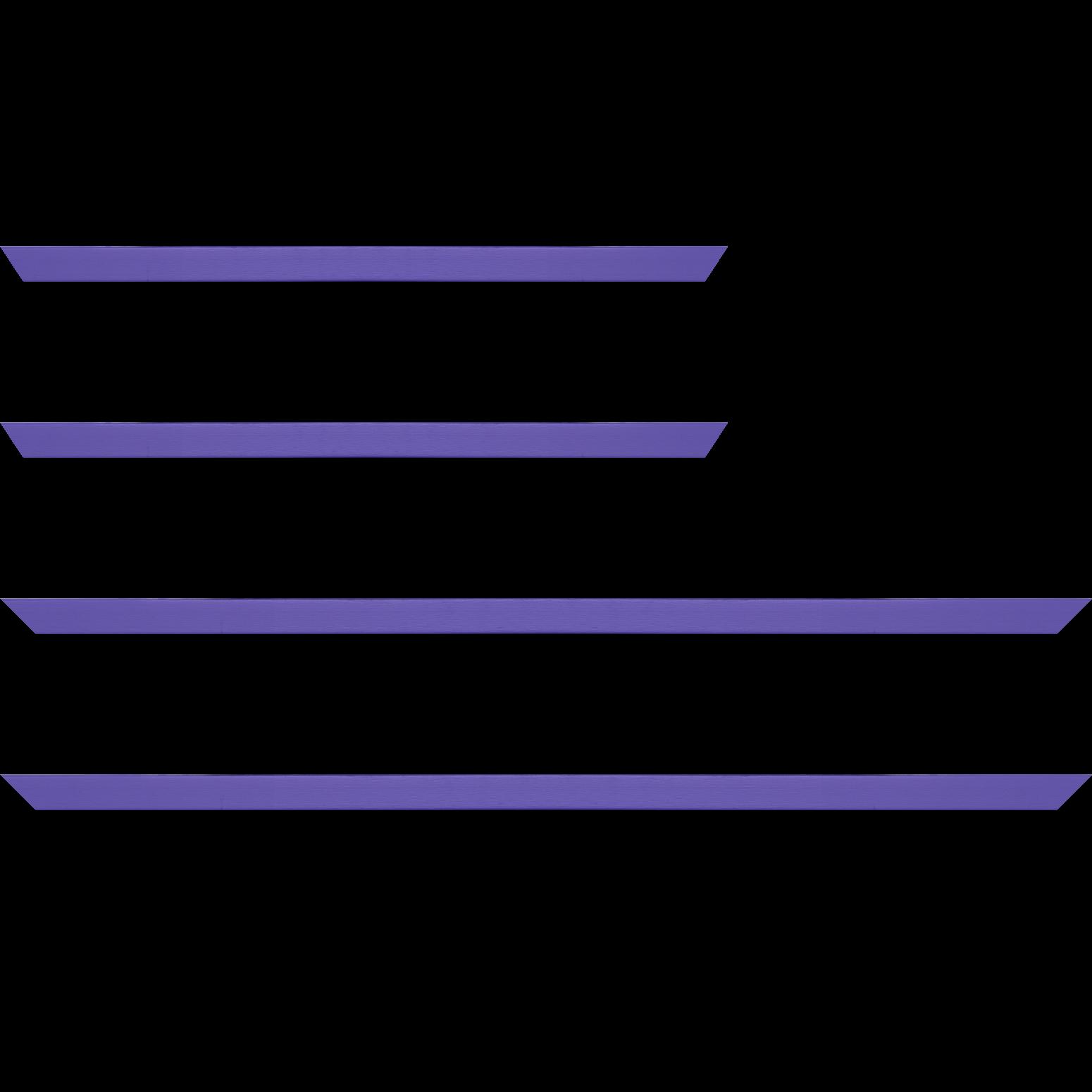 Baguette service précoupé Bois profil plat effet cube largeur 1.7cm couleur bleu violet satiné