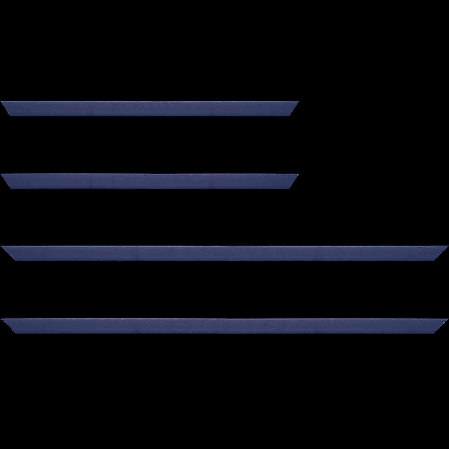 Baguette service précoupé Bois profil plat effet cube largeur 1.7cm couleur bleu nuit satiné