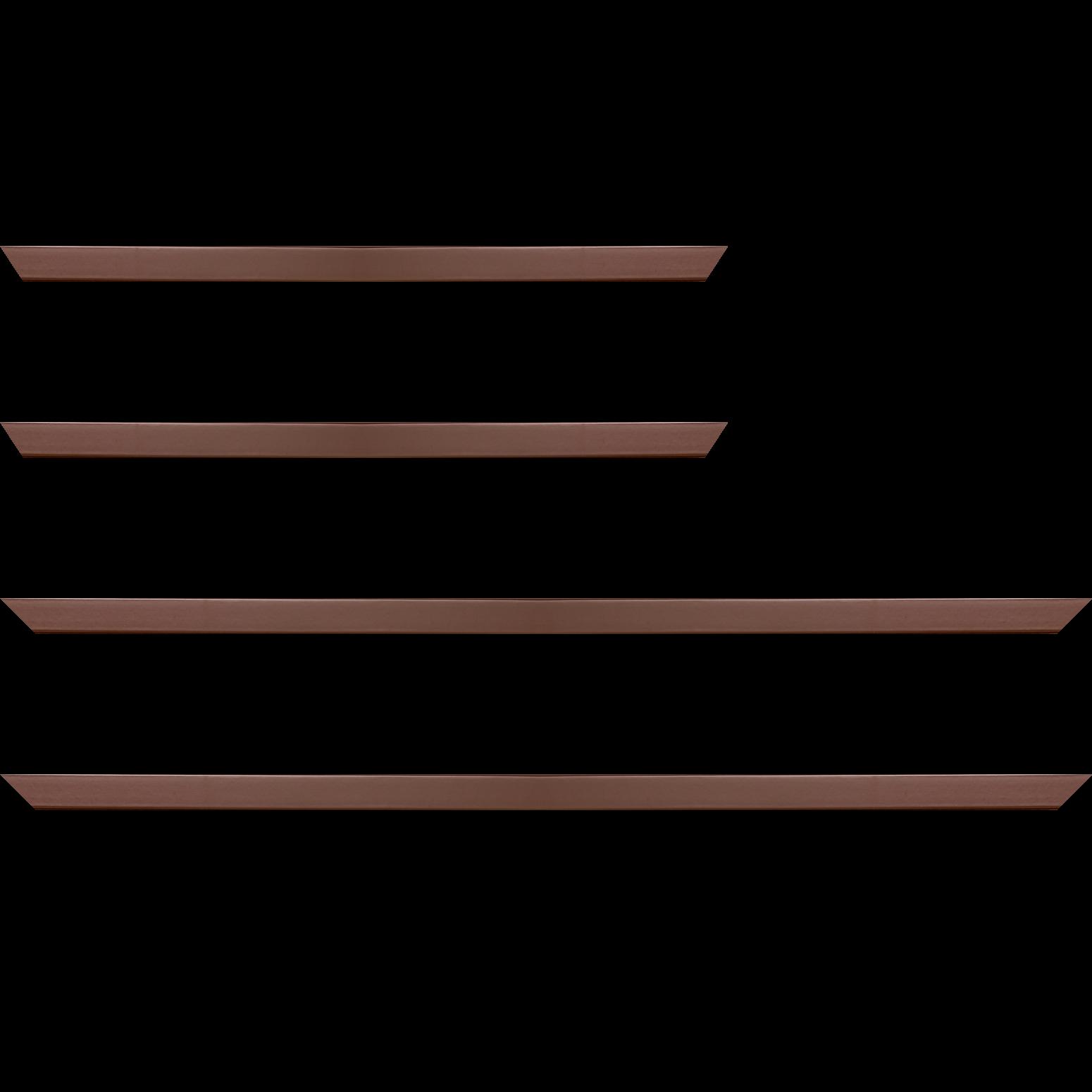 Baguette service précoupé Bois profil plat effet cube largeur 1.7cm couleur chocolat satiné