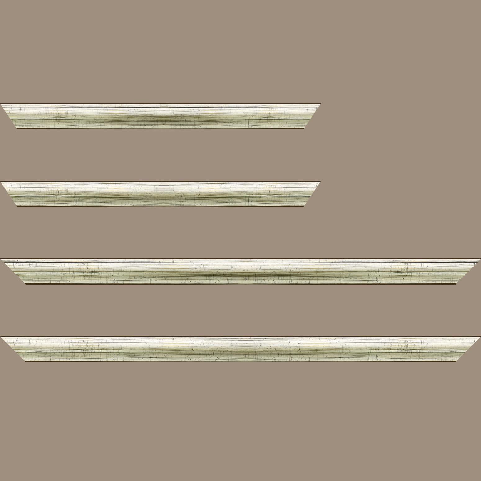 Baguette service précoupé Bois profil arrondi plongeant largeur 2.4cm couleur vermeille effet oxydé