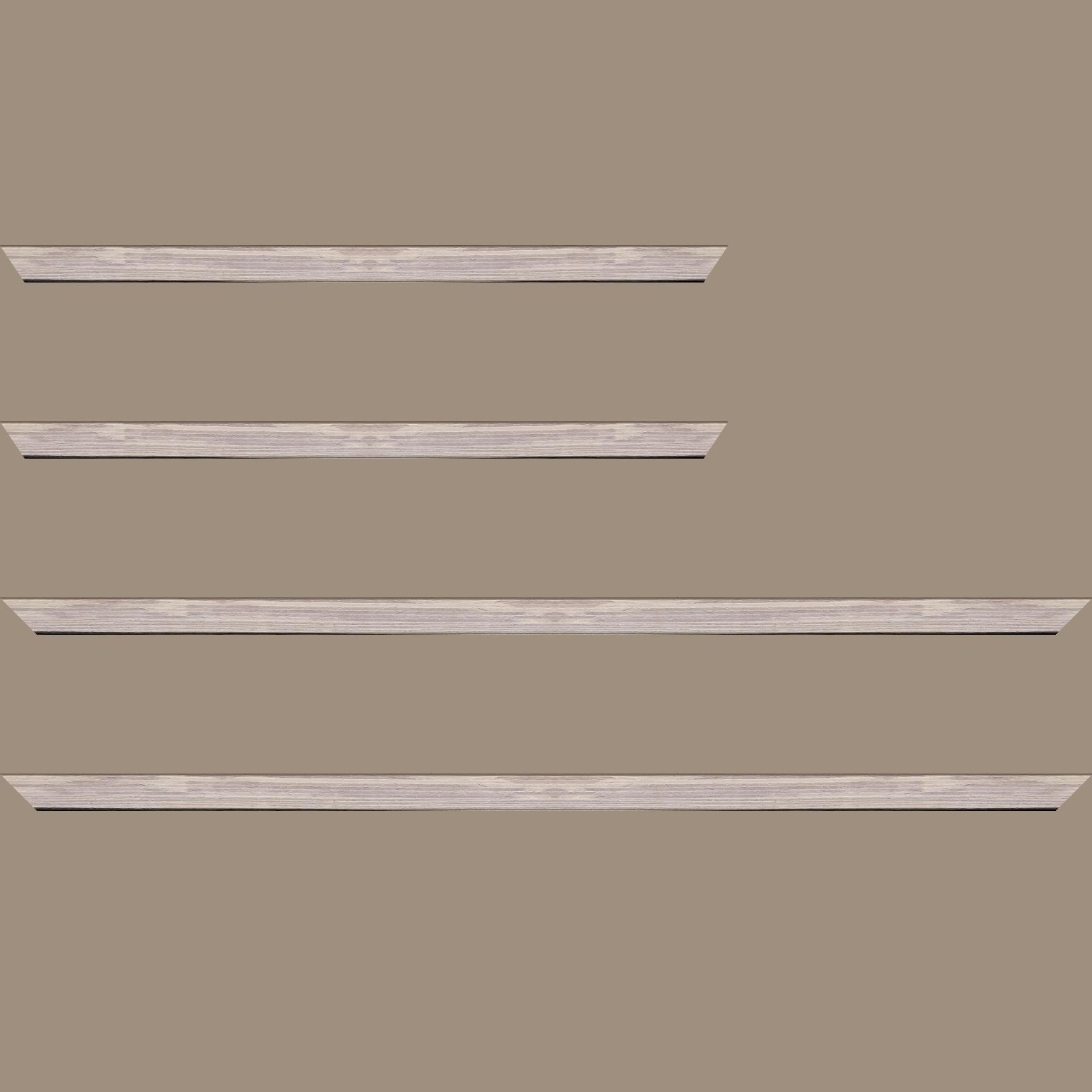Baguette service précoupé Bois profil plat largeur 1.5cm  plaquage bois gris blanchi haut de gamme