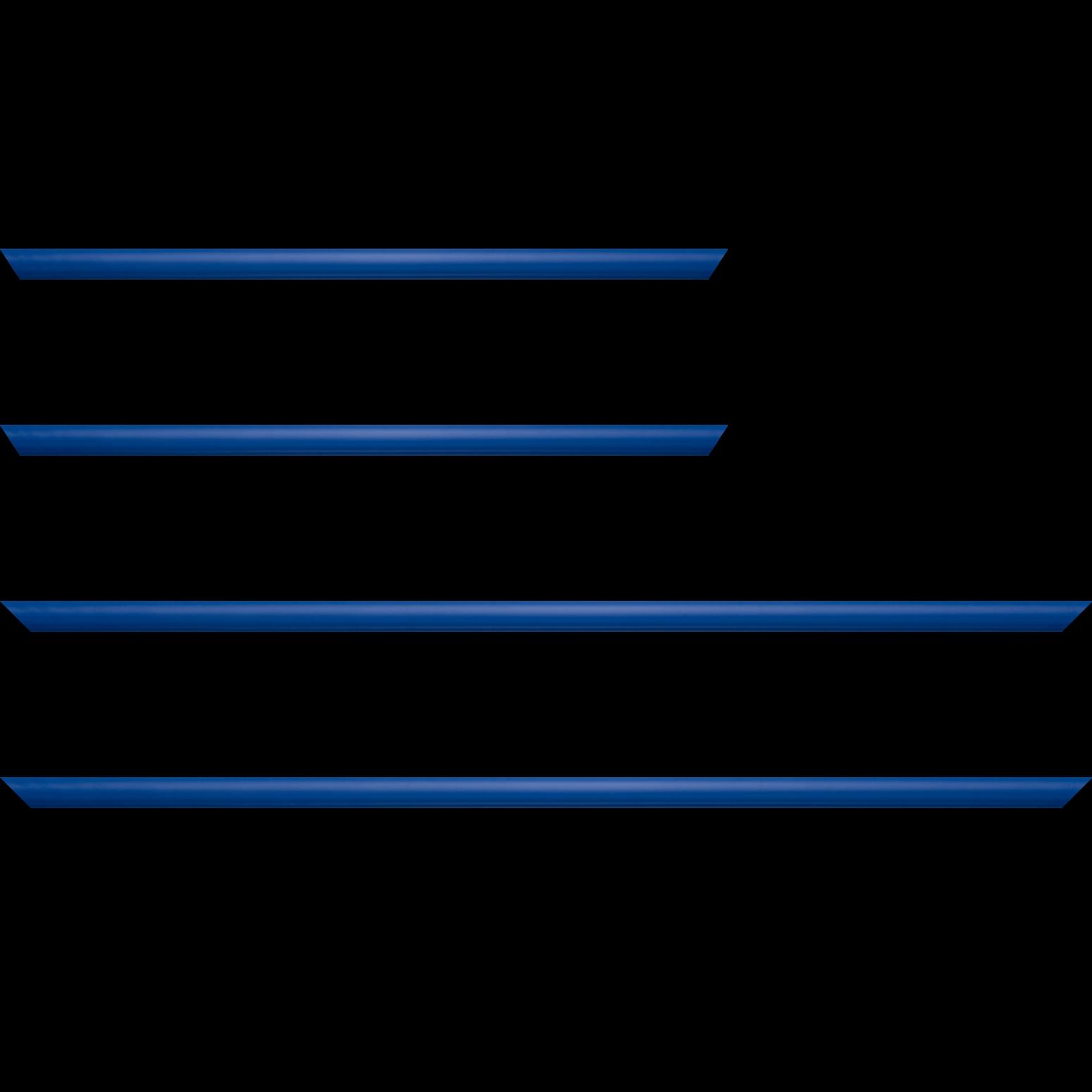 Baguette service précoupé Bois profil demi rond largeur 1.5cm couleur bleu français mat